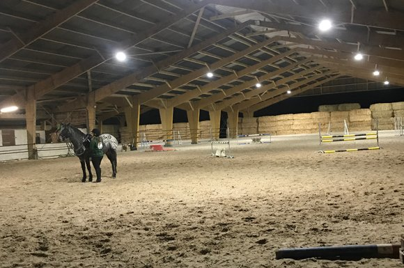 Manège chevaux 67x28m Angers